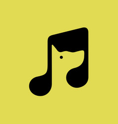 dog inside a musical note vector image