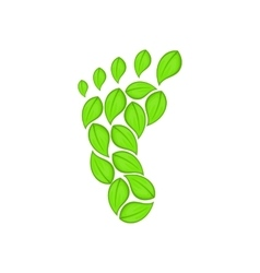 Eco footprint icon cartoon style vector image