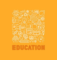 Education concept in trendy linear style vector