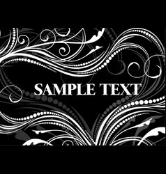 elegant black-and-white background vector image