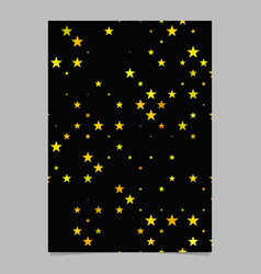 Geometric star pattern background poster template vector