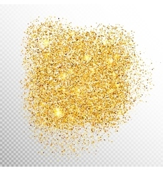 Gold sparkles on white EPS 10 vector image