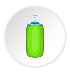 Green air freshener aerosol bottle icon vector