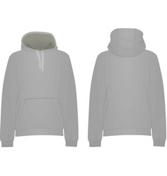 grey hooded sweater vector image