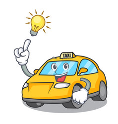 Have an idea taxi character mascot style vector