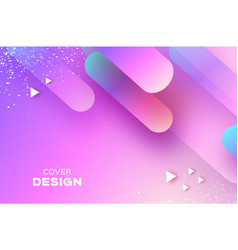 Holographic geometry background layered shapes vector