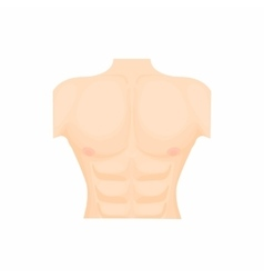Human chest icon in cartoon style vector image