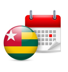 Icon of national day in togo vector