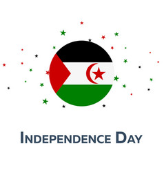 Independence day of western sahara patriotic vector