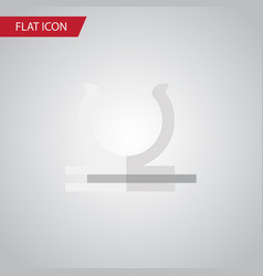 Isolated holder flat icon conduit element vector