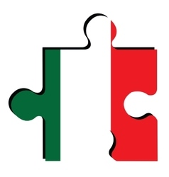 Isolated Italian flag vector