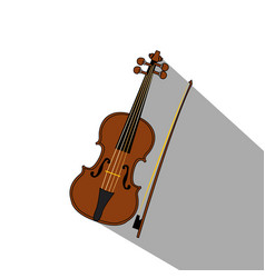 isolated music instrument vector image