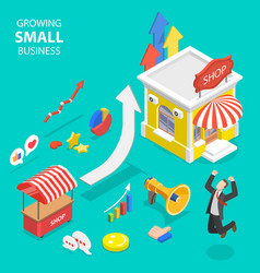 Isometric flat concept small business vector