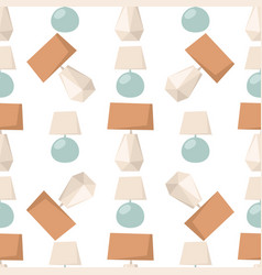 lamps light bulb interior seamless pattern vector image