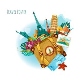 Landmarks travel background vector