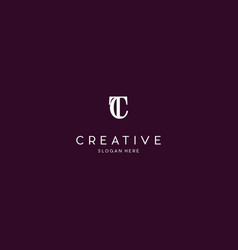 letter tc creative business logo design graphic vector image