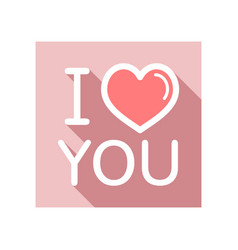 lettering i love you icon vector image