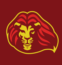 lionhead mascot with blowing hair vector image