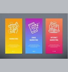 marketing email marketing internet marketing vector image