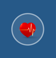 Medical logo heart and pulse vector