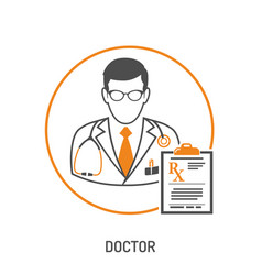 Medical prescription concept vector