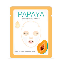 Papaya whitening mask vector