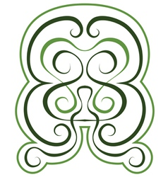 Pattern green tint ornament tattoo style vector