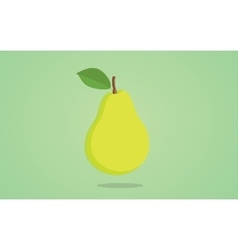 Pear green isolated with greens vector