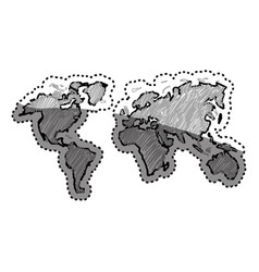 Planet earth geography vector