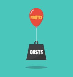 Profits and costs concept vector