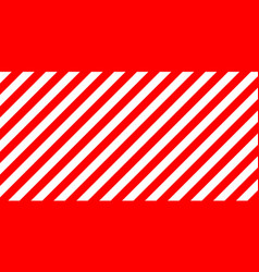 red and white stripes diagonally sign size vector image