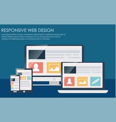 Responsive web design including laptop desktop vector