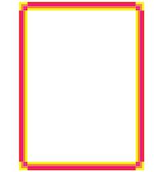retro page border vector image