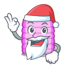 Santa window with blinds isolated on mascot vector
