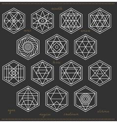 Set of geometric hipster shapes45z662black vector