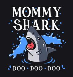 shark t shirt 006 vector image