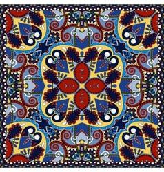 Silk neck scarf or kerchief square pattern desig vector