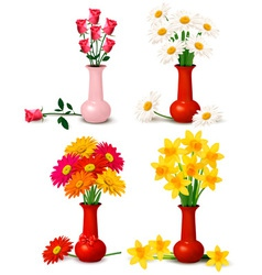 Spring and summer flowers vector