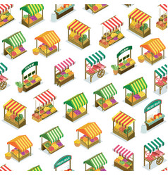 Street farm market counter seamless pattern vector