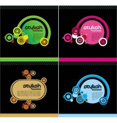 stylish templates vector image