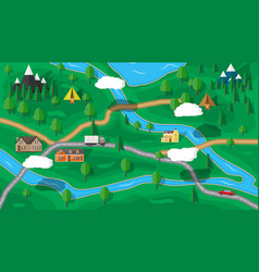 Suburban nature map vector