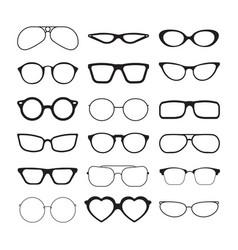 sunlight glasses fashioned glasses black plastic vector image