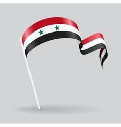 Syrian wavy flag vector