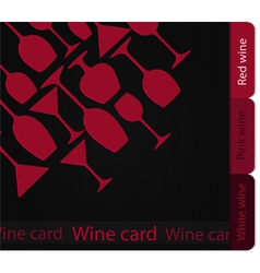 Template of a wine card vector image