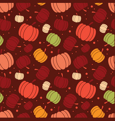 thanksgiving and autumn seamless pumpkin pattern vector image