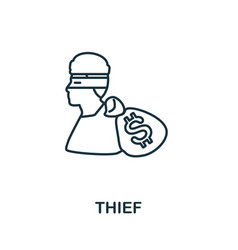 Thief icon simple element from police collection vector