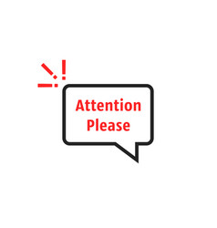 Thin line attention please simple buble vector