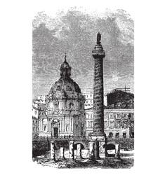 Trajans column a monument in honor emperor vector