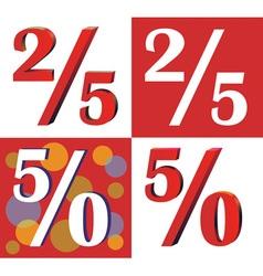 Twenty five and fifty percent vector