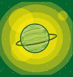 Uranus milkyway planet vector